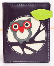 -PURPLE OWL WALLET