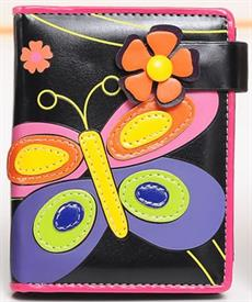 -BLACK BUTTERFLY WALLET