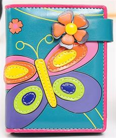 -TURQUOISE BUTTERFLY WALLET