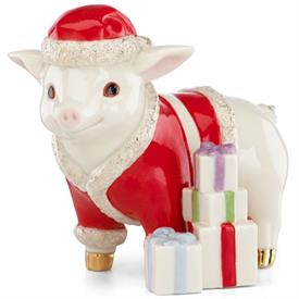 "_SANTA'S ELF PIG FIGURINE. 4"" TALL. MSRP $72.00"