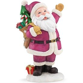 "_A MERRY CHIRSTMAS TO ALL SANTA FIGURINE. 5.75"" TALL. MSRP $100.00"