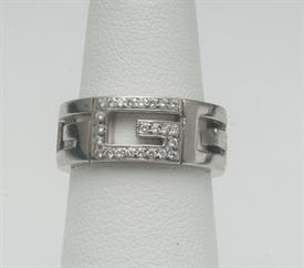 18K WHITE GOLD, GUCCI RING 9 GRAMS GROSS WEIGHT SIZE 4.5