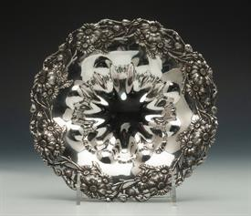 ",WM WISE ORNATE FLORAL CANDY DISH STERLING SILVER 6.75 TROY OUNCES 7.75"" DIAMETER 1.25"" TALL"