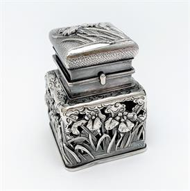 ",VINTAGE ITALIAN ETCHED GLASS, ORMOLU, & COBALT BLOWN GLASS VANITY TRAY. RARE. 17.25"" WIDE, 14.25"" LONG. CA. 1950'S"