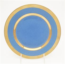 ",_DESSERT PLATE IN POWDER BLUE. 9"" WIDE. MSRP $235.00"