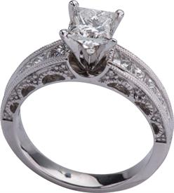 _14K WHITE GOLD RING 1.02 CARAT SII-H 1.00 CARAT SEMI MOUNT WAS: $7129