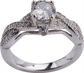 _14K WHITE GOLD RING .80 CARAT II H WAS: $2899