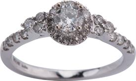_14K WHITE GOLD RING .75 CARAT DIAMOND WAS: $1599