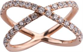 _14K ROSE GOLD 1.85 CARAT DIAMOND RING WAS: $1989