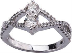 _14K WHITE GOLD .94 CARAT DIAMOND RING WAS: $2269
