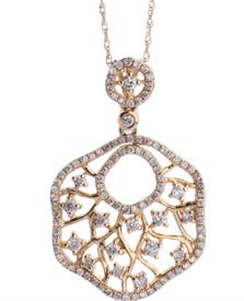 _14K YELLOW GOLD .65 CARAT DIAMOND NECKLACE WAS: $1299