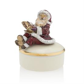 -,SANTA ON PORCELAIN BOX. 2""