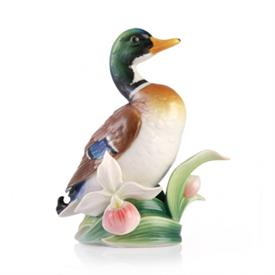 "-,MALLARD DUCK FIGURINE. 5.2"" TALL, 4.75"" WIDE"