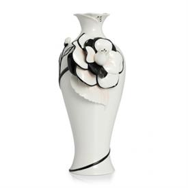 "-,GRACEFUL CAMELLIA VASE, LARGE. 15"" TALL."