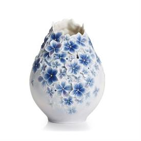 "-,FLORAL BOUQUET VASE IN HYDRANGEA. 11.5"" TALL, 9"" LONG, 8.5"" DEEP"
