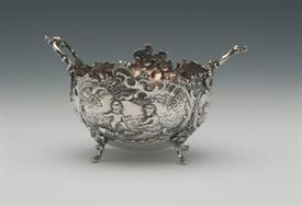 "SUGAR BOWL SILVER MADE IN 1777 IN BELGIUM 5.35 TROY OUNCES 5.5"" ACROSS 3.25"" TALL"