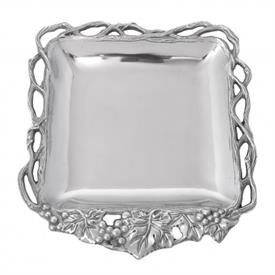 "-OPEN VINE SQUARE TRAY. 12"" WIDE"