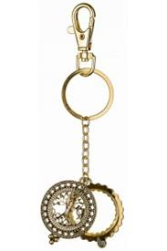-GOLD TREE OF LIFE MAGNIFYING KEYCHAIN
