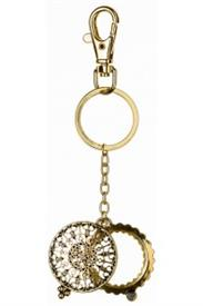 -GOLD FILIGREE MAGNIFYING KEYCHAIN