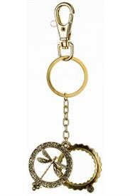 _GOLD DRAGONFLY MAGNIFYING KEYCHAIN
