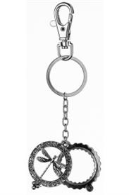 -SILVER DRAGONFLY MAGNIFYING KEYCHAIN