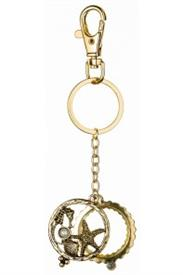 -GOLD SEA LIFE MAGNIFYING KEYCHAIN