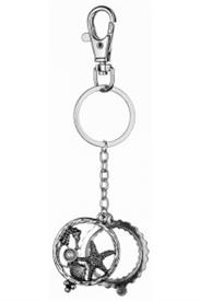 -SILVER SEA LIFE MAGNIFYING KEYCHAIN
