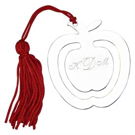 -APPLE SHAPED BOOKMARK & TASSEL