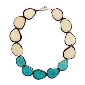 -SANTA CRUZ TURQUOISE & IVORY NECKLACE