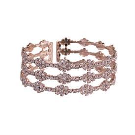 -ROSE GOLD & CRYSTAL 'DIAMOND' PATTERN BRACELET