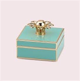 -TURQOISE & GOLD JEWELRY BOX