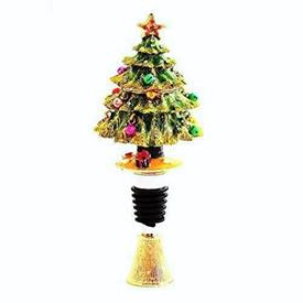 -CHRISTMAS TREE BOTTLE STOPPER WITH STAND