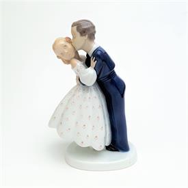 ",'YOUTHFUL BOLDNESS' BOY KISSING GIRL FIGURINE, STYLE #2162. 7"" TALL"