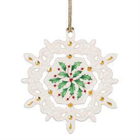 "_HOLIDAY PIERCED SNOWFLAKE ORNAMENT. 3.75"" WIDE. MSRP $40.00"