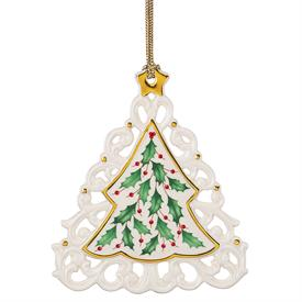 "_HOLIDAY PIERCED TREE ORNAMENT. 4"" TALL. MSRP $40.00"