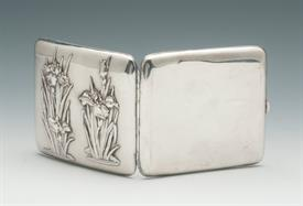 ",AESTHETIC MOVEMENT UNKNOWN MAKER EUROPEAN SILVER CIGARETTE CASE 3.5"" LONG 3.15 TROY OUNCES"