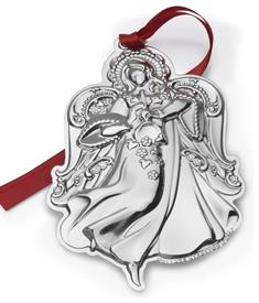 "_17th Edition Angel, Grande Baroque Angel Sterling Silver Ornament. 2.75"" Wide by 4.25"" High. MSRP $240.00"