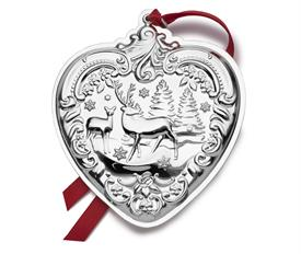 "_26th Edition Heart, Grande Baroque Heart, Sterling Silver Ornament. 3"" Wide by 3.5"" High. MSRP $240.00"