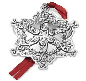 "_Grande Baroque Snowflake Sterling Silver Ornament by Wallace Year 2017 USA 20th Anniversary Edition 3.25""Wx3.75""H MSRP$225 UPC#73093606710"