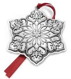 "_28th Ed. Snowflake, Old Master Pattern, Sterling Silver Ornament. 3.75"" Wide by 3"" High. MSRP $225.00"