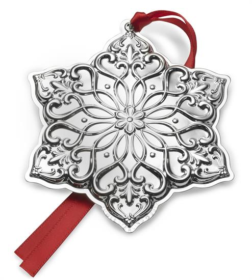 """Towle 28th Ed. Snowflake, Old Master Pattern, Sterling Silver Ornament. 3.75"""" Wide by 3"""" High. MSRP $225.00"""