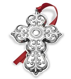 "_25TH ED.Cross Sterling Silver Ornament by Towle Year 2017 - 25th Anniversary Edition 3.25""W x 4.5""H MSRP $240 made in USA UPc#044228038728"