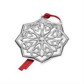 "_18TH ED.Celtic Sterling Silver Ornament Year 2017 - Made By Towle in USA 3.5""W x 3.75""H MSRP $240.00 UPC#044228038735 Gift Box"