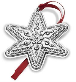 "_21st Ed. Star Sterling Silver Ornament. 3"" Wide x 3.75"" High. MSRP $225.00. Gift Boxed"