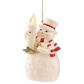 "_BLOW OUT THE LIGHT SNOWMAN ORNAMENT. 5"" TALL. BATTERIES INCLUDED. MSRP $80.00"