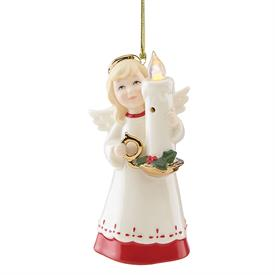 """_BLOW OUT THE LIGHT ANGEL ORNAMENT. 5.5"""" TALL"""