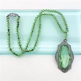",ANTIQUE CHINESE EXPORT GILT STERLING FILIGREE BRACELET WITH ENAMEL & CUT TOPAZ. CA. 1940'S. 7.4"" LONG, APPOX. .76 TROY OUNCES"