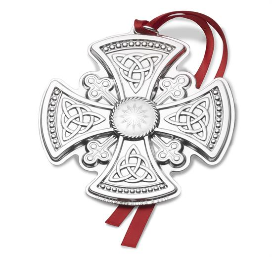 "Gorham 4th Edition Cross Sterling Silver Ornament.  3.25"" Wide by 3.5"" High. MSRP $225.00"