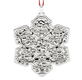 "_20th Ed.Snowflake Sterling Silver Ornament made by Reed & Barton in USA 20th Edition Height 2"" Year 2017 MSRP $150 Stock # 875058"