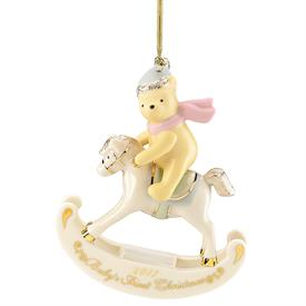 "_2017 DISNEY'S WINNIE THE POOH BABY'S 1ST CHRISTMAS ORNAMENT. 3.5"". MSRP $60.00"